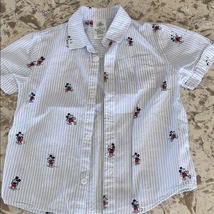 Boys Mickey Mouse button down shirt
